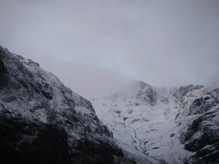 Stob Coire nan Lochan looking very much more inviting than yesterday!