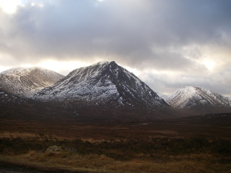 Sron na Creise from the road. Not too snowy