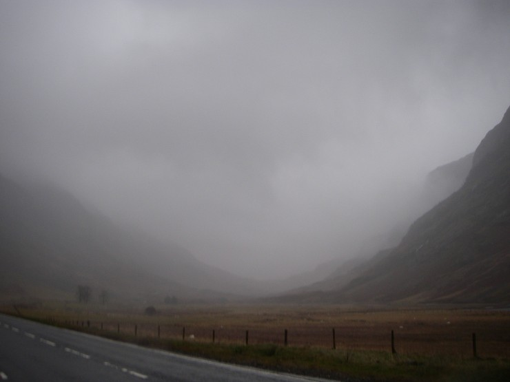 It was looking slightly ominous looking up the Glen this morning.