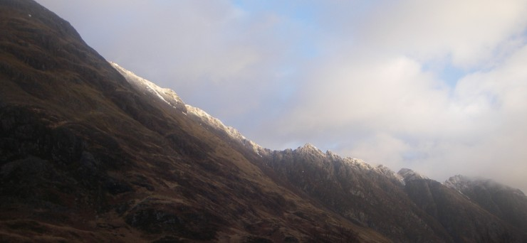 Aonach Eagach ridge this morning