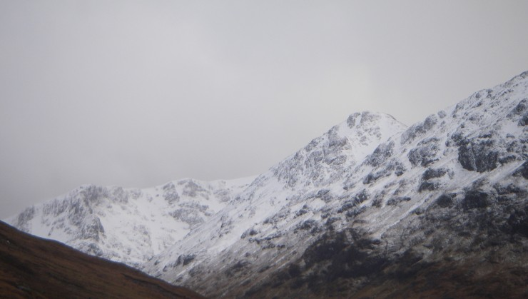 Looking up into Lairig Eilde with Stob Coire Sgreamhach on the right.