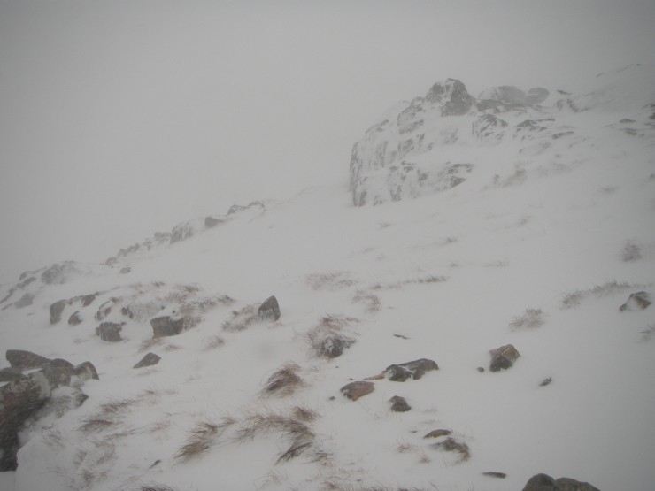 Poor visibility during snow showers