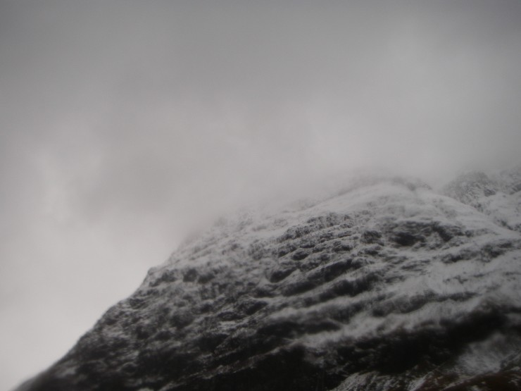 Aonach Dubh looking forbidding.