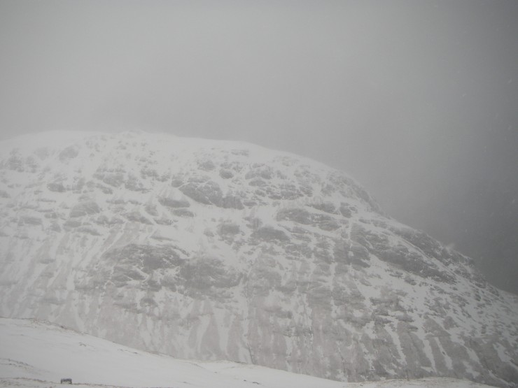 The East flank of Beinn Fhada spied through the gloom.