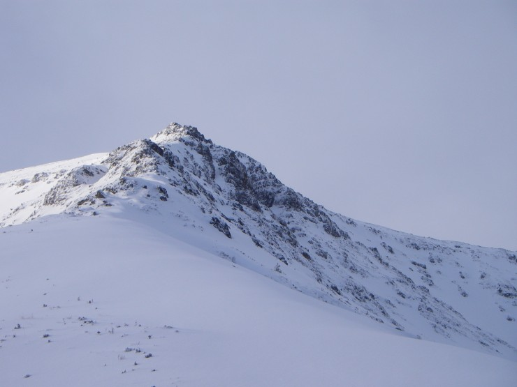 Looking up the ENE Ridge of Beinn a Bheithir.