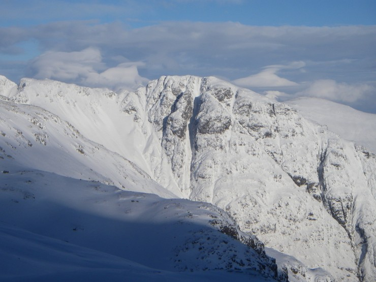 The Southern flank of Am Bodach, starting point for many traversing the Aonach Eagach.