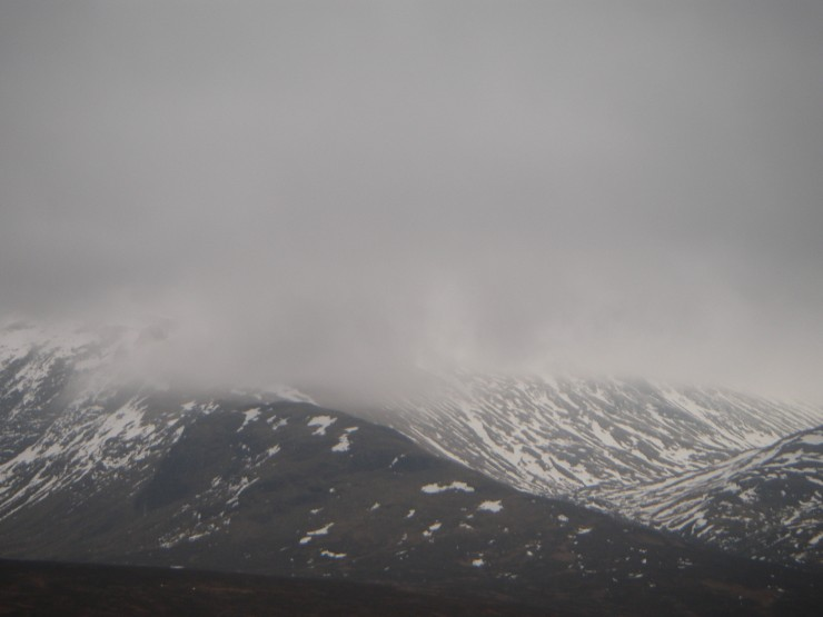 After being clear early on, the summit of Meall a Bhuiridh was shrouded in cloud