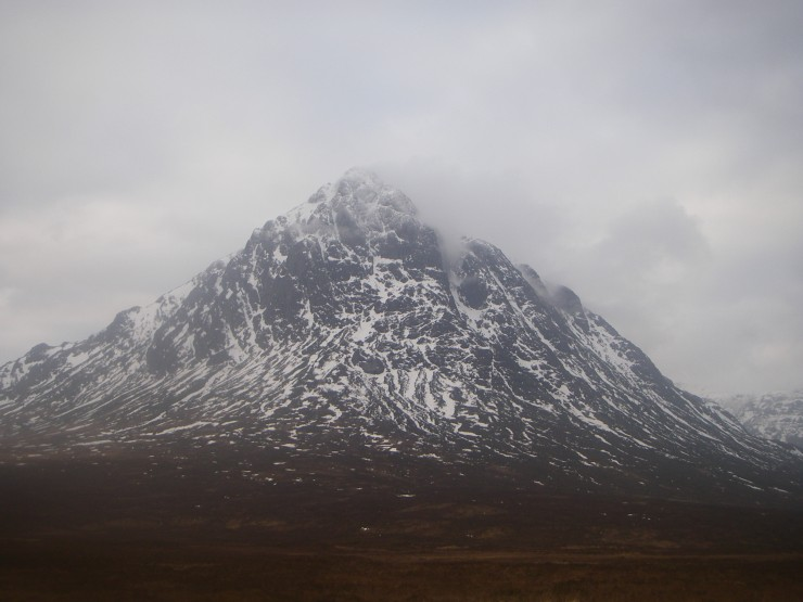 Cloud forming on Buachaille Etive Mor