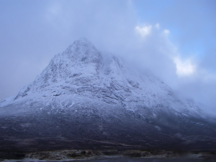 The Buachaille between snow showers