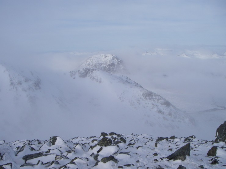 As it started to clear The Buachaille loomed into view.