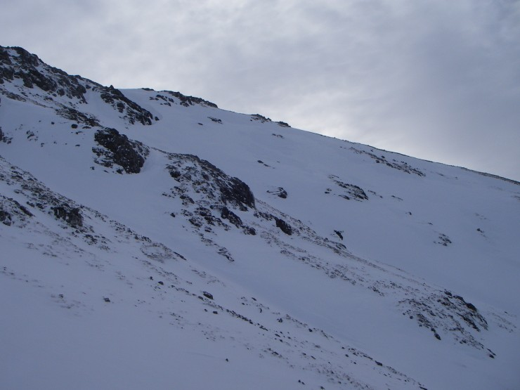 The scoured Northern flank of Stob Coire Raineach