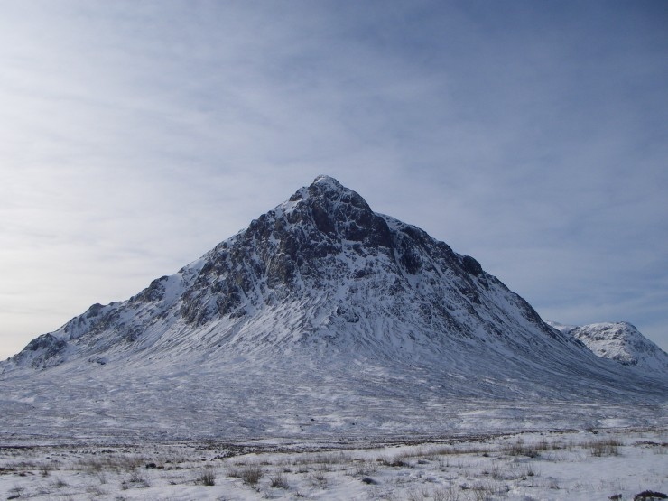 The Buachaille was fully clear by the time I drove down the glen.