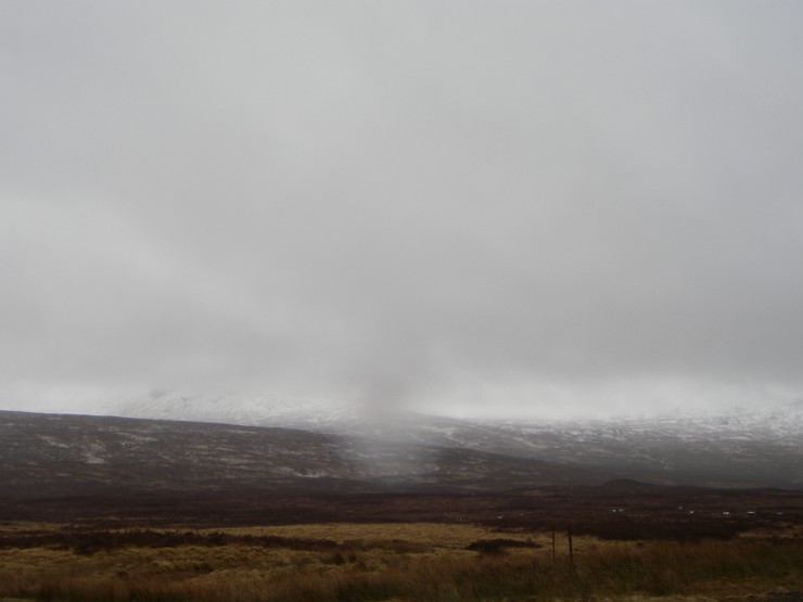 Not the best visibility from the road. Meall a Bhuiridh is hiding up there somewhere.
