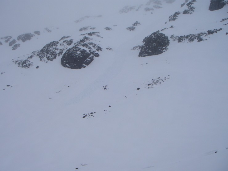 This avalanche had started well up towards the summit of Stob Coire nan Lochan.