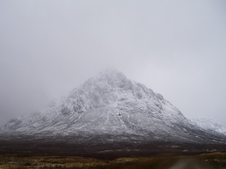 'The Buachaille' looking pretty wintry to say Easters just round the corner.