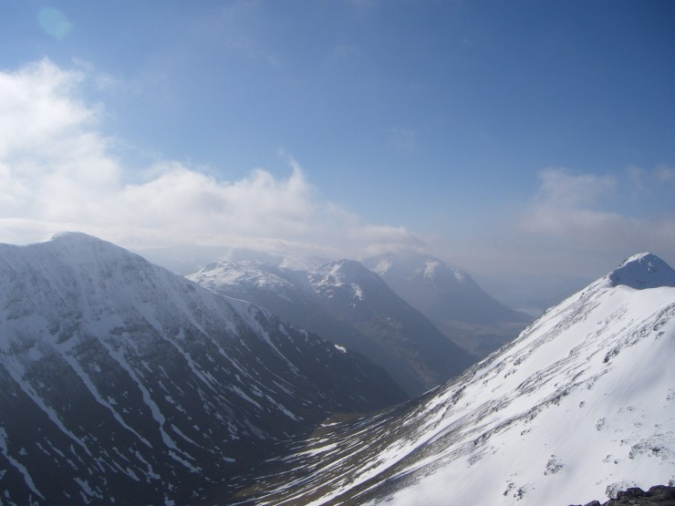 Ben Starav looms over Loch Etive-seen from Stob Coire Raineach