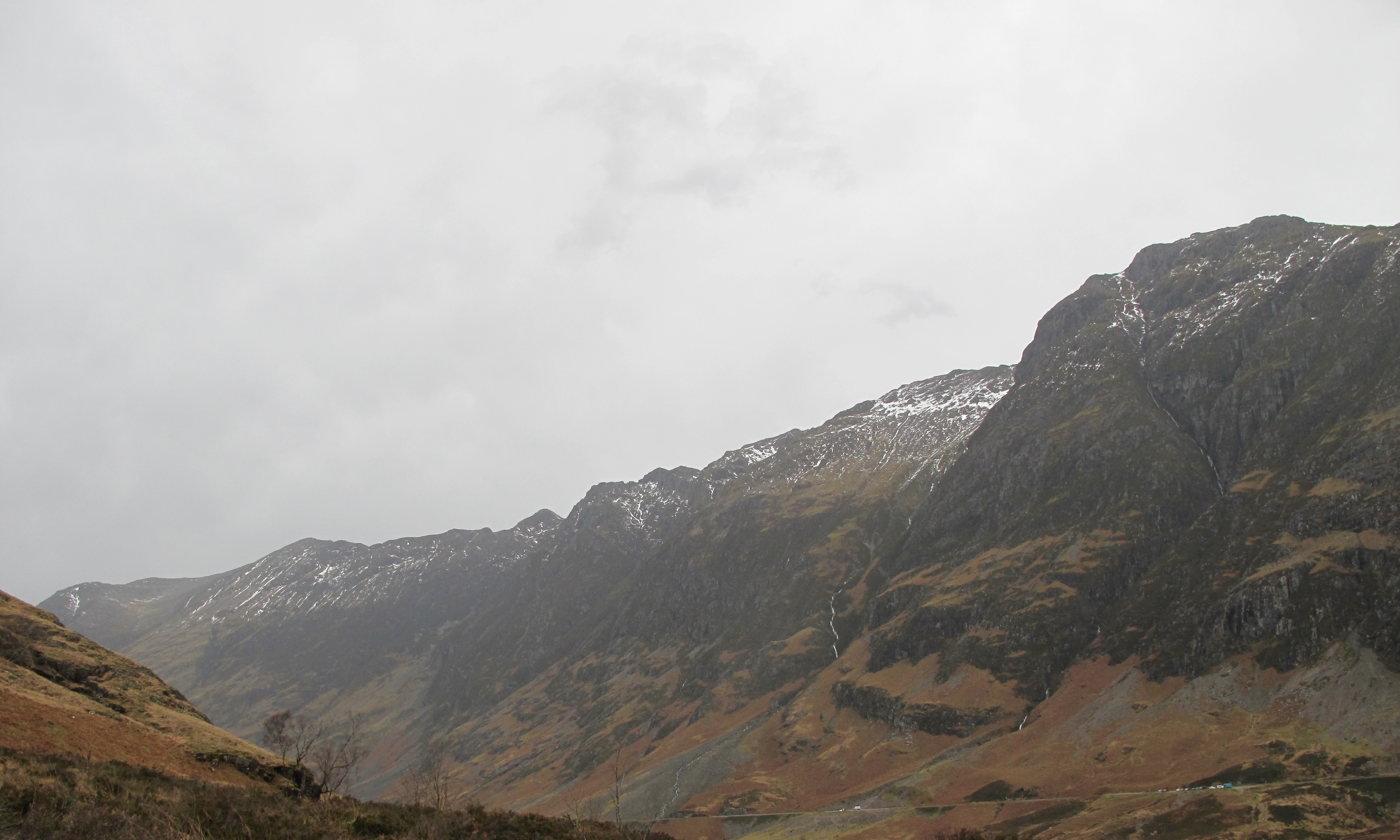 South aspect of the Aonach Eagach ridge