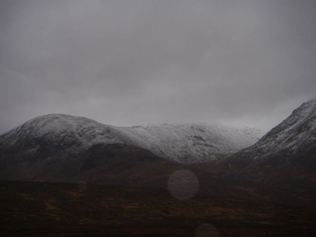 Further East, Meall a Bhuiridh was lost in the grey.