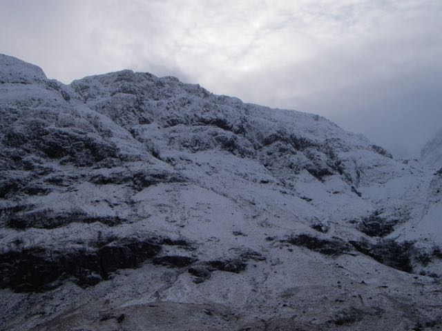 The West (North-West) face of Aonach Dubh