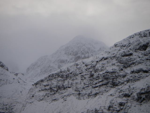 Stob Coire nam Beith peers out from behind the shoulder of An-t-Sron