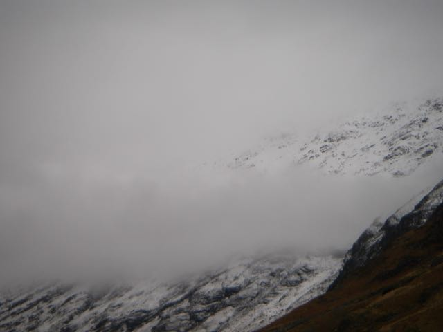 A band of cloud on the South flank of the Aonach Eagach