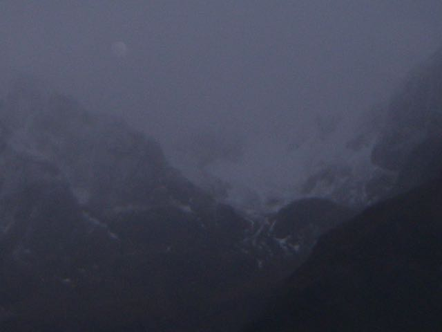 Winter seems to have penetrated back down to the West end of the glen - fresh snow on Stob Coire nam Beith