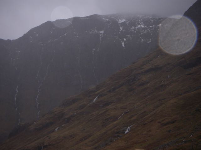 Here's the West face of Aonach Dubh yesterday