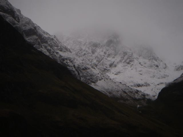 Stob Coire nam Beith seen over the South-West shoulder of Aonach Dubh