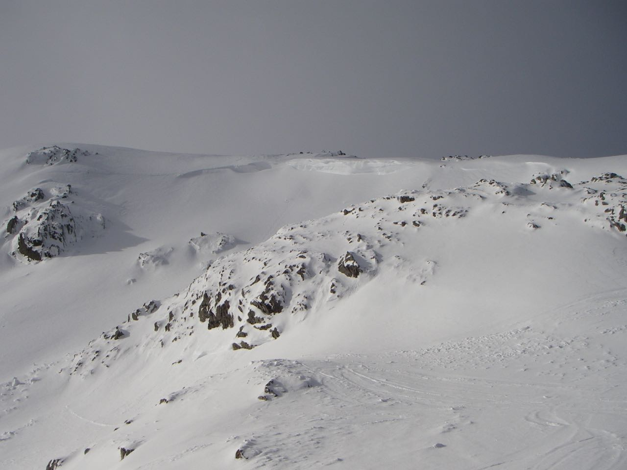 The crown wall on this avalanche was estimated to be 2.5 metres high.  It probably released Sunday night /Monday morning