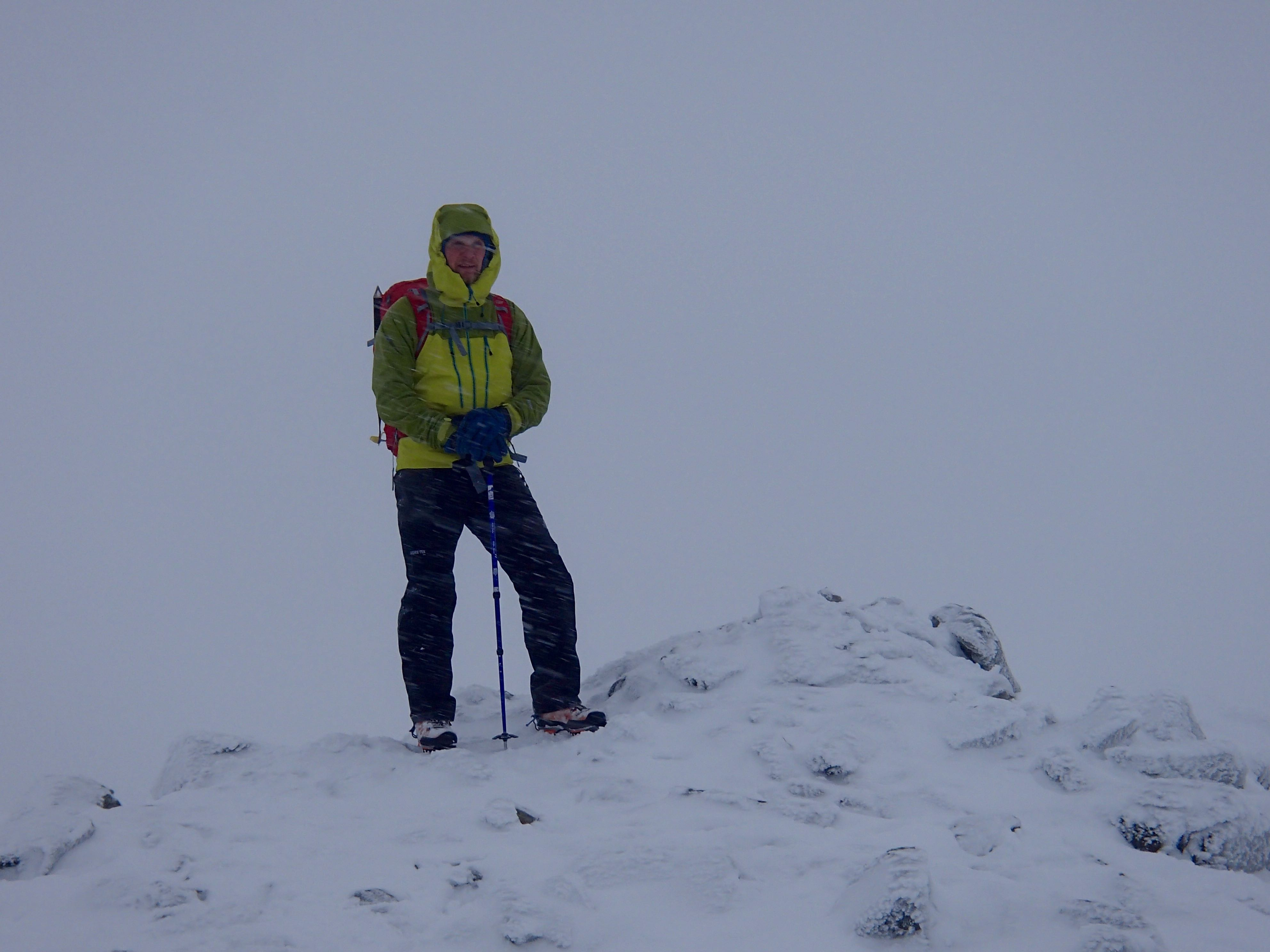 Mark from Goretex on the Summit of Meall a Bhuiridh