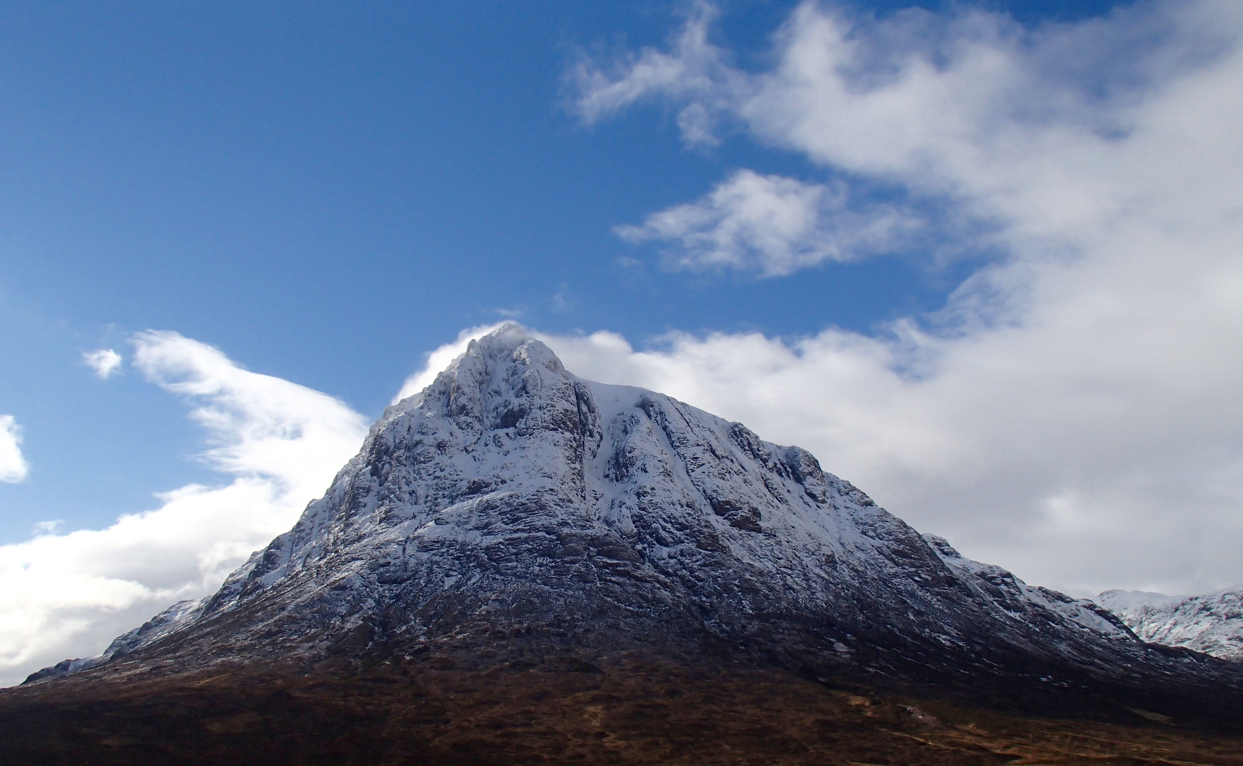 Buachaille Etive Mor. Clearer conditions in the afternoon.