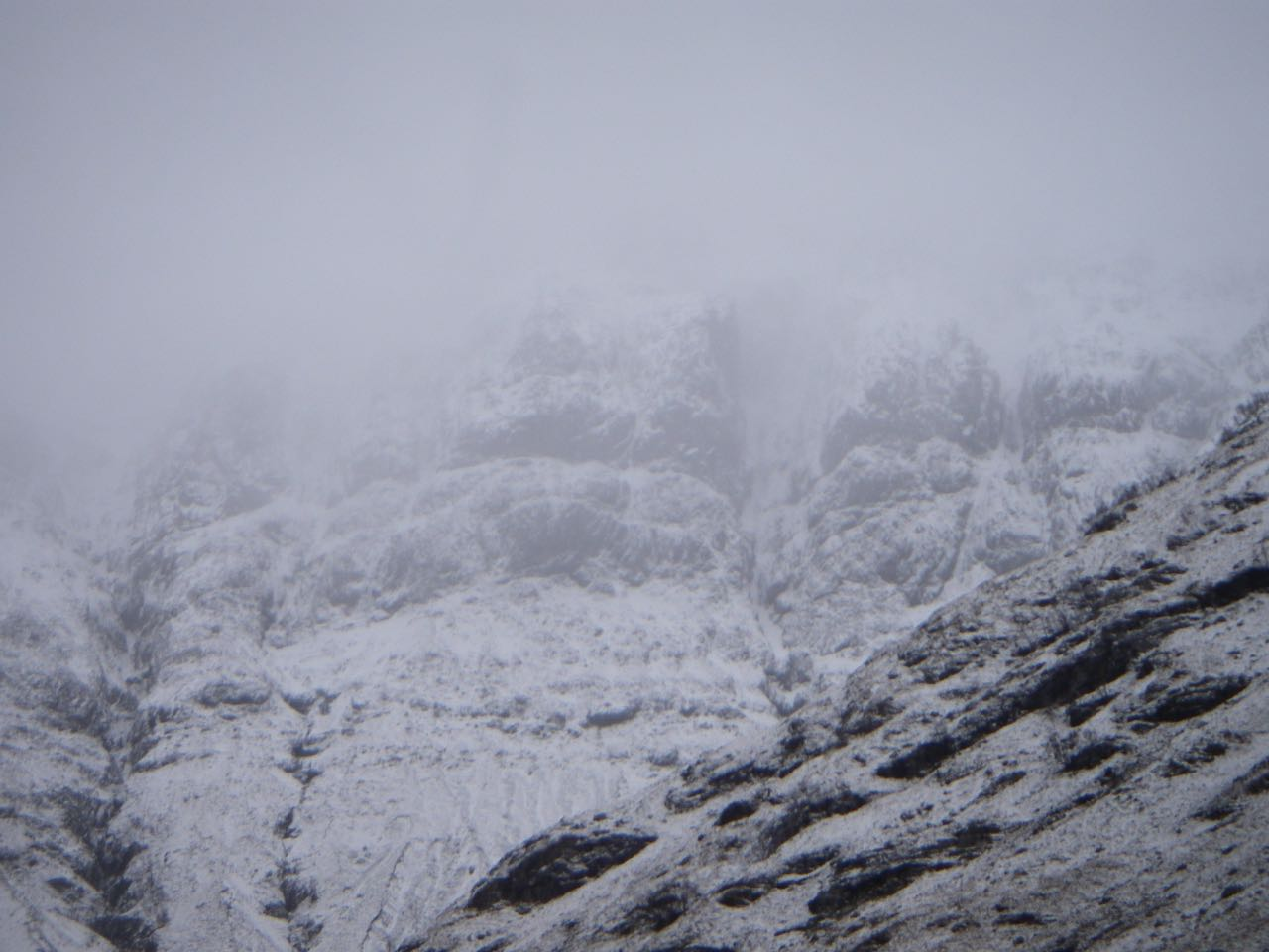 The West face of Aonach Dubh - overcast by mid-day.