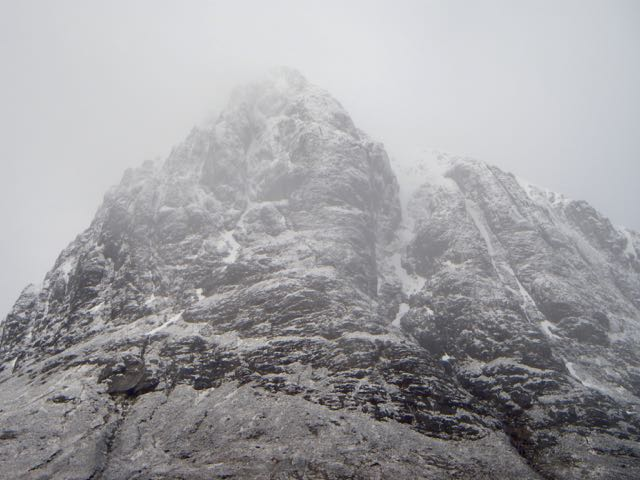 North side on Stob Dearg