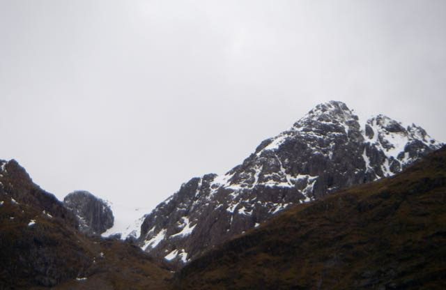 On the left Church door buttress on Bidean nam Bian and Stob coire nam Beith on the right