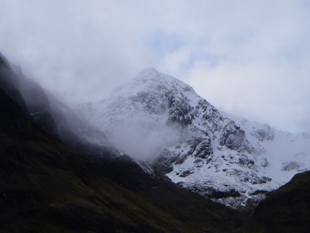 Stob Coire nam Beith seen through light cloud