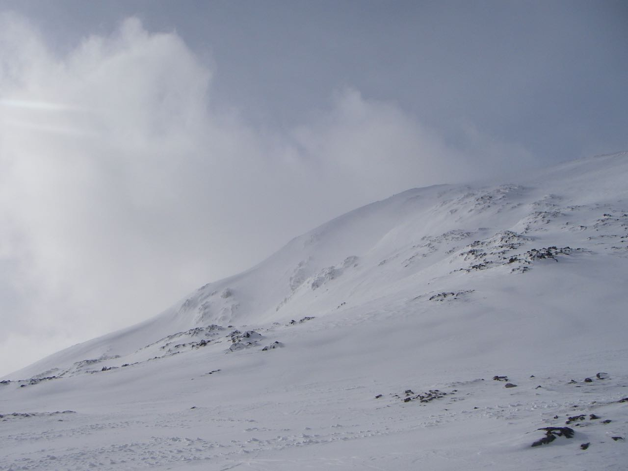 The East ridge of Meall a Bhuiridh with the steeper ski runs on its North flank