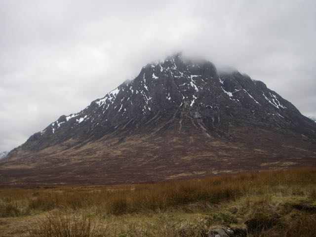 The Buachaille looking distinctly threadbare.