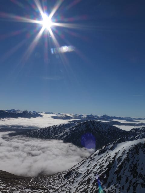 Looking South over the inversion layer from Meall a Bhuiridh