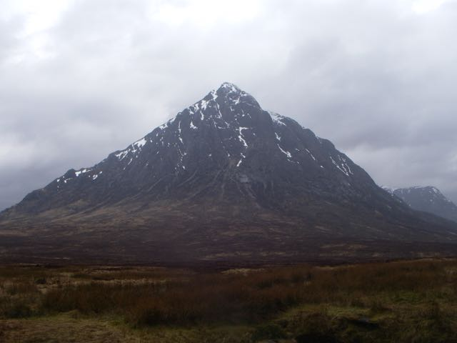 Stob Dearg, 'the Buachaille', showing little snow cover