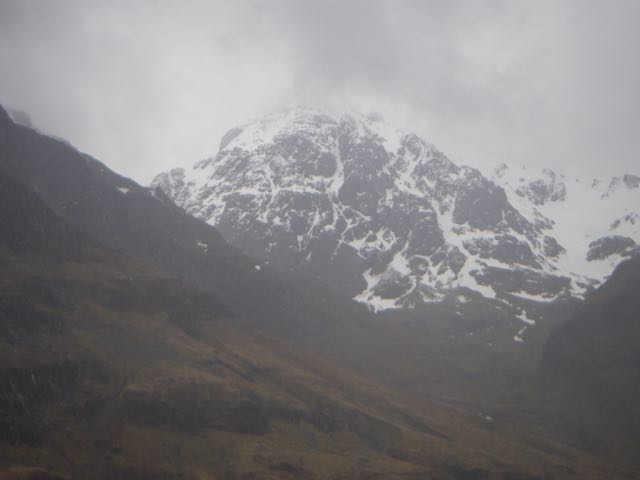 Best views were lower down the Glen - Stob Coire nam Beith almost clear.