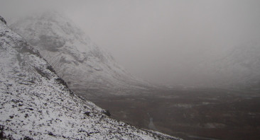 Stormy conditions with rain, sleet and snow on higher slopes.
